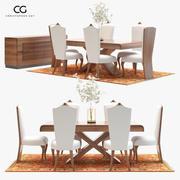 Classic Dining Room Set 3d model