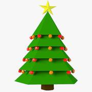 圣诞树低聚 3d model