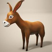 Cartoon Esel 3d model