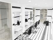 Salon de coiffure 3d model