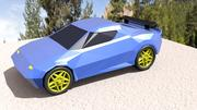 Low Poly Race Car 3d model