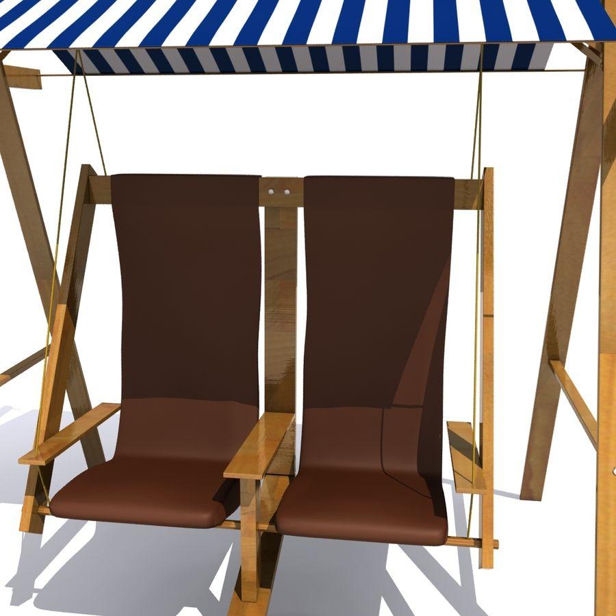Dubbele schommels buiten royalty-free 3d model - Preview no. 2