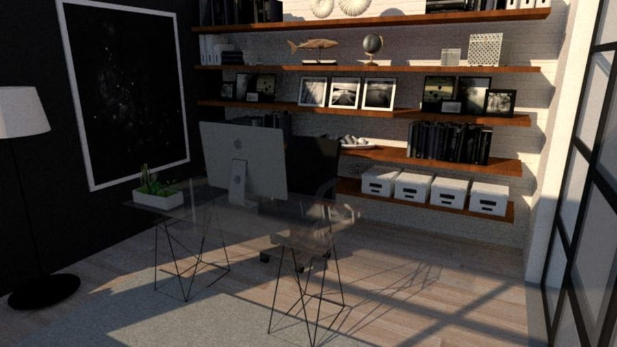 diseño moderno de oficina royalty-free modelo 3d - Preview no. 3