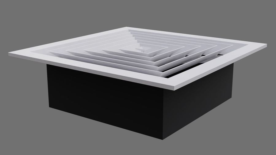 Air Vent 3A royalty-free 3d model - Preview no. 2
