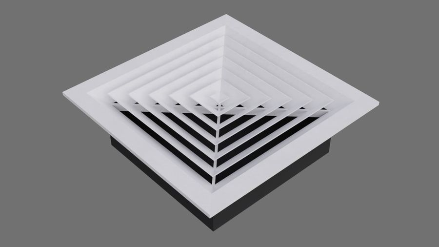 Air Vent 3A royalty-free 3d model - Preview no. 1