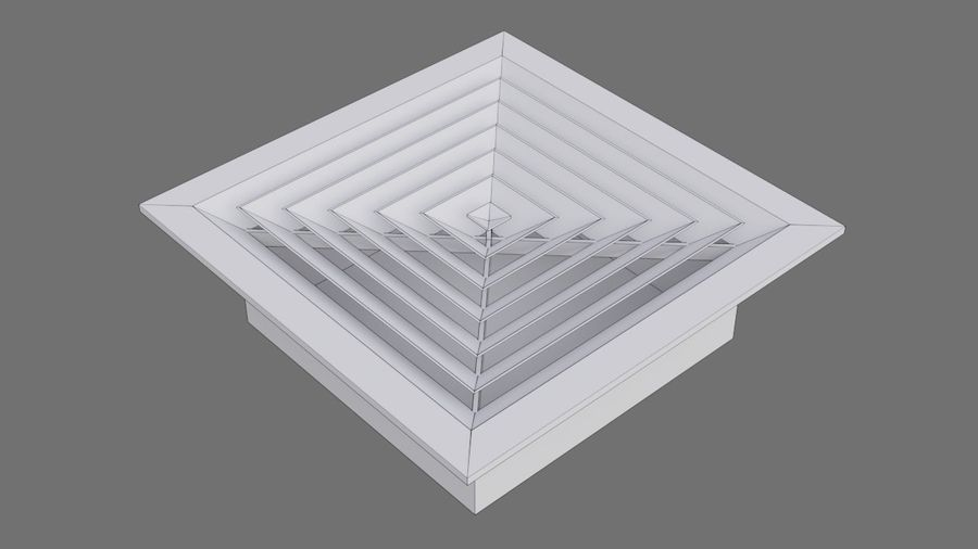 Air Vent 3A royalty-free 3d model - Preview no. 6