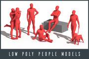 Низкополигональные люди 3d model