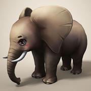 Мультфильм слон 3d model