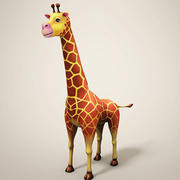 Girafe de dessin animé 3d model