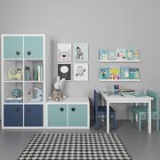 Mobiliário para quarto das crianças 3d model