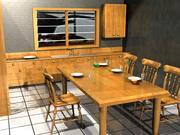 Interieur keuken kamer 3d model