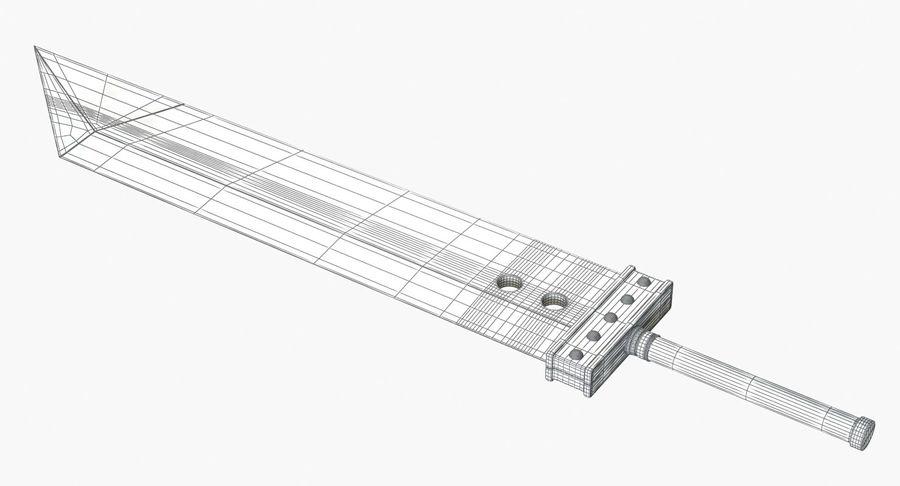 Épée Buster royalty-free 3d model - Preview no. 15