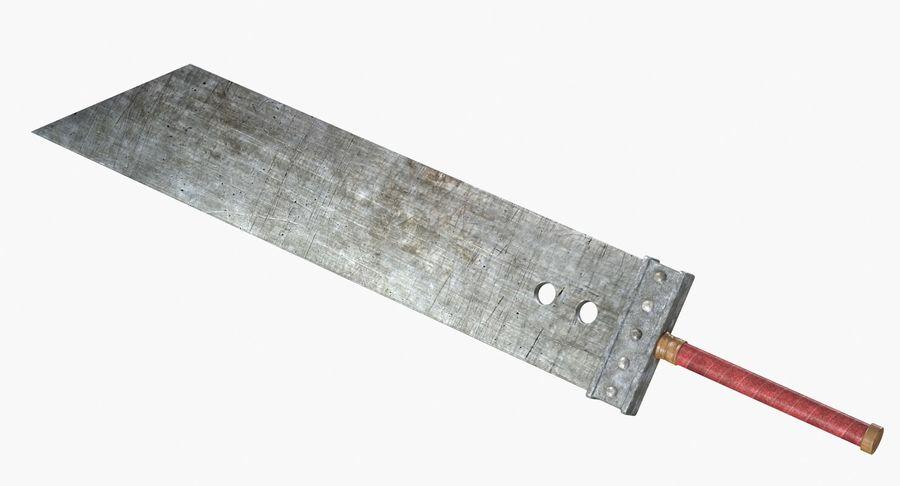Épée Buster royalty-free 3d model - Preview no. 9