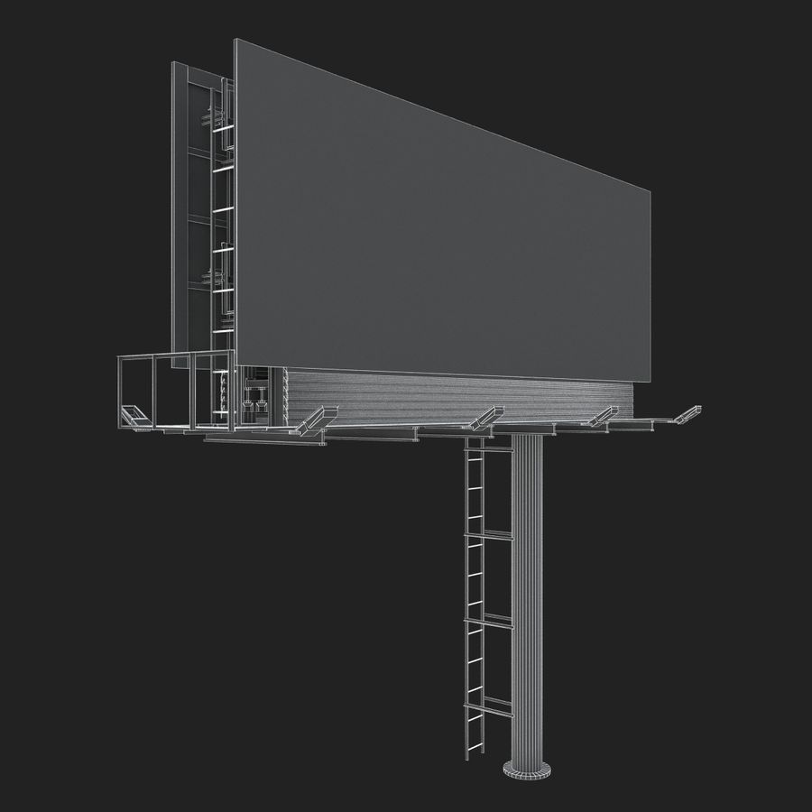 Billboard royalty-free 3d model - Preview no. 19