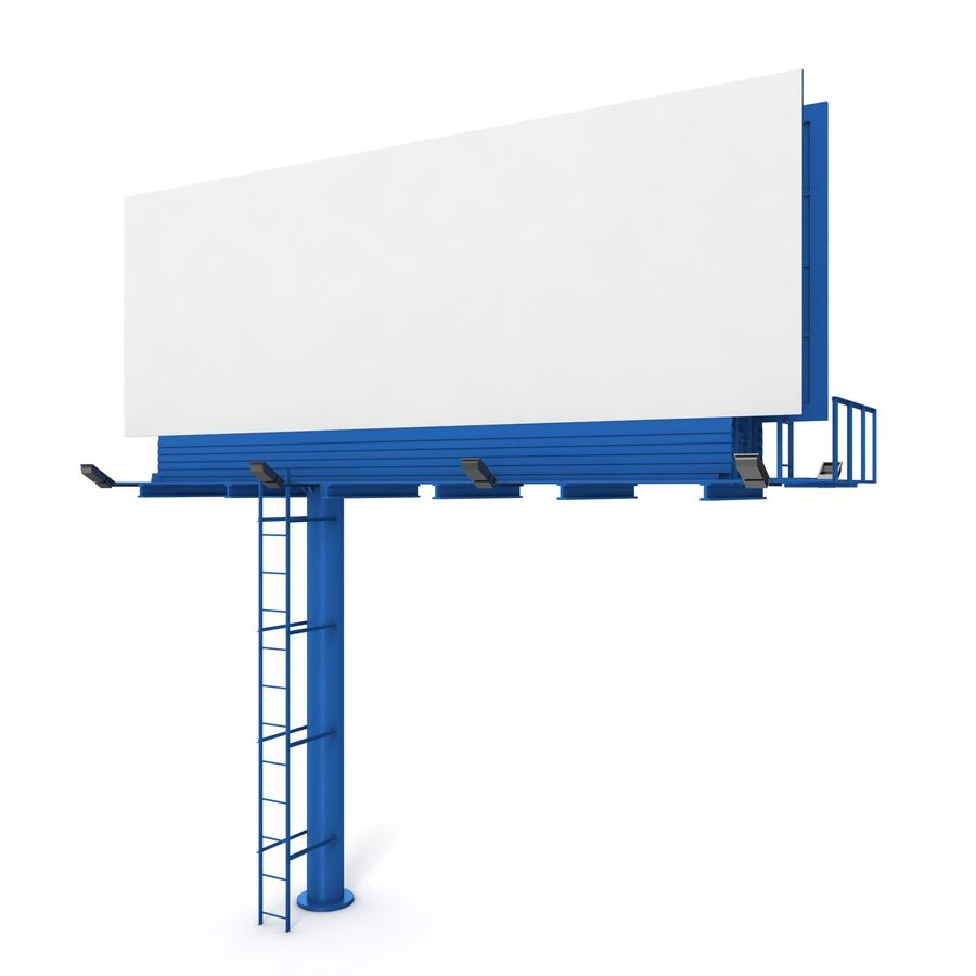 Billboard royalty-free 3d model - Preview no. 5