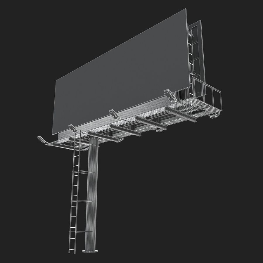 Billboard royalty-free 3d model - Preview no. 27