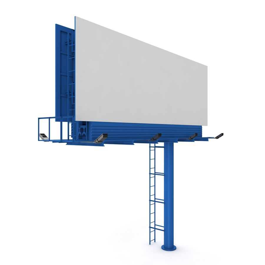 Billboard royalty-free 3d model - Preview no. 4