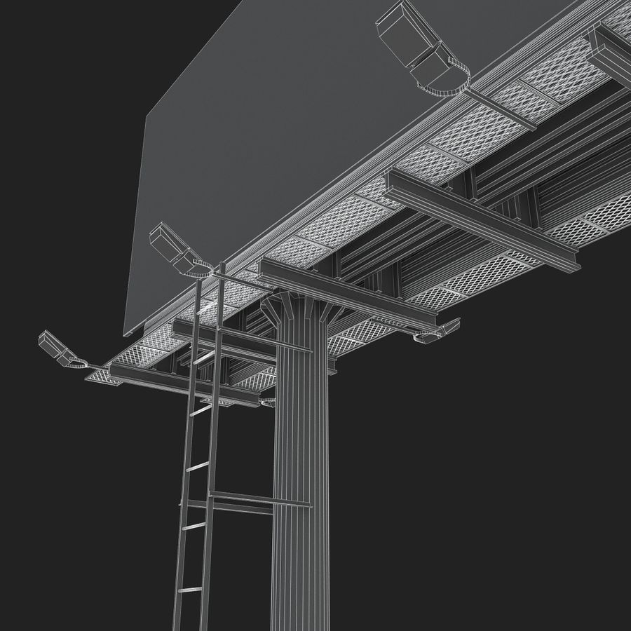 Billboard royalty-free 3d model - Preview no. 26