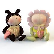 Textile doll Tilda toy 3d model