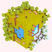 立方体冒险游戏包 3d model