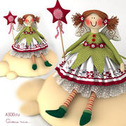 Doll tilde textile toy 3d model