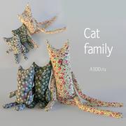 Doll tilde textile toy cats 3d model