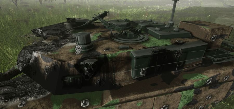 Tank Abrams vernietigd royalty-free 3d model - Preview no. 21