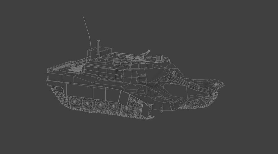 Tank Abrams vernietigd royalty-free 3d model - Preview no. 6