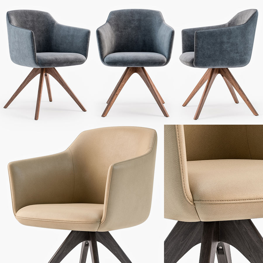 Rolf Benz 640 Chair 3d Model 20 Obj Max Free3d