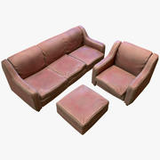Old Sofa - Game Ready 3d model