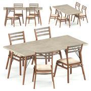 Loft Dining set 3d model