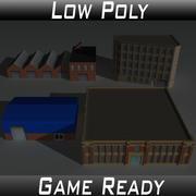Factory Building Set 2 3d model