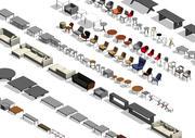 Modern Revit Furniture Pack 3d model