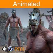 Personagem Orc Azrak 3d model