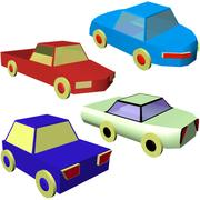 Pack Lowpoly Voitures 3d model