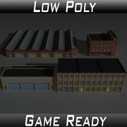 Фабрика строительный набор 3 3d model