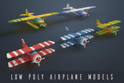 Low poly airplanes 3d model