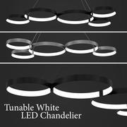 Nastrojony biały żyrandol LED 3d model