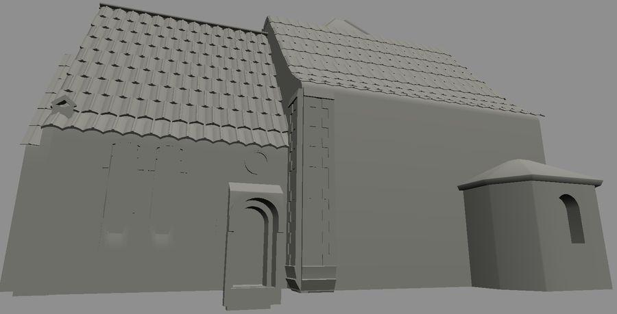 Iglesia vieja (juego listo) royalty-free modelo 3d - Preview no. 4