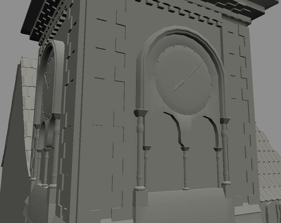 Iglesia vieja (juego listo) royalty-free modelo 3d - Preview no. 5