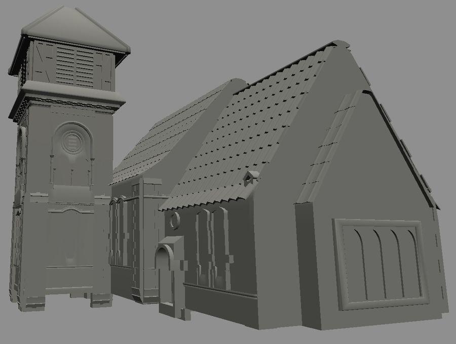 Iglesia vieja (juego listo) royalty-free modelo 3d - Preview no. 1