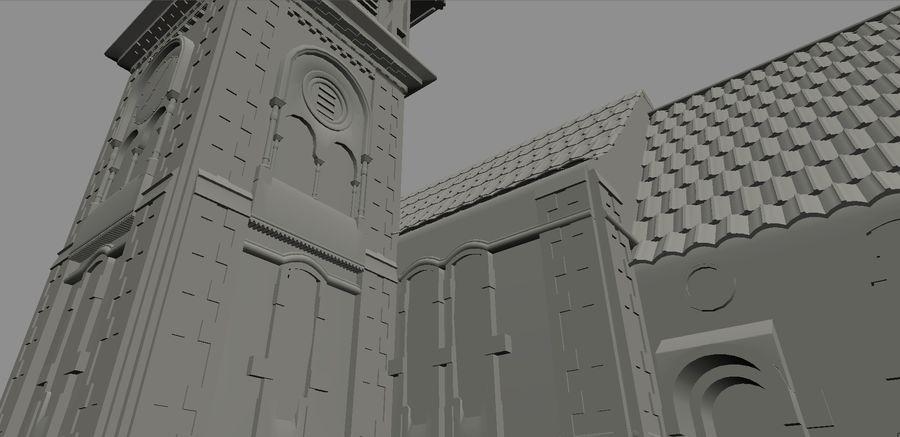 Iglesia vieja (juego listo) royalty-free modelo 3d - Preview no. 3