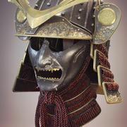 Samurai huvudbonader 3d model