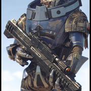 EFECTO MASIVO - Garrus Vakarian con rifle de viuda negra modelo 3d