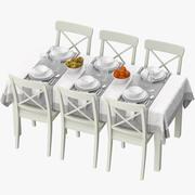 Ikea Table Dining Set 3d model