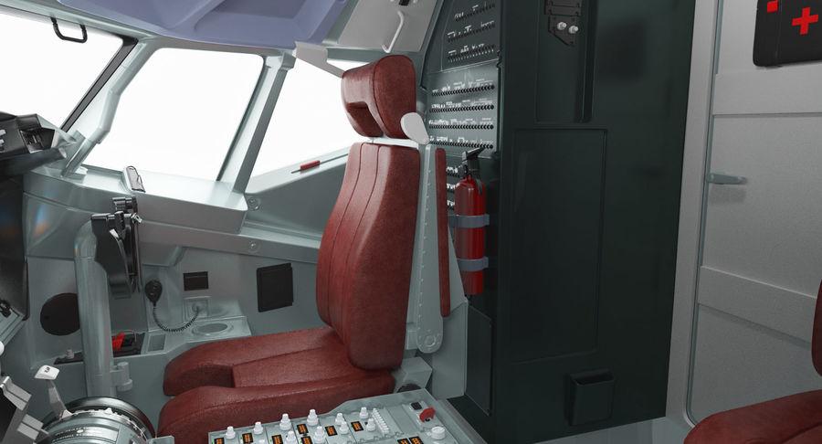 Cockpit d'avion de passagers royalty-free 3d model - Preview no. 8