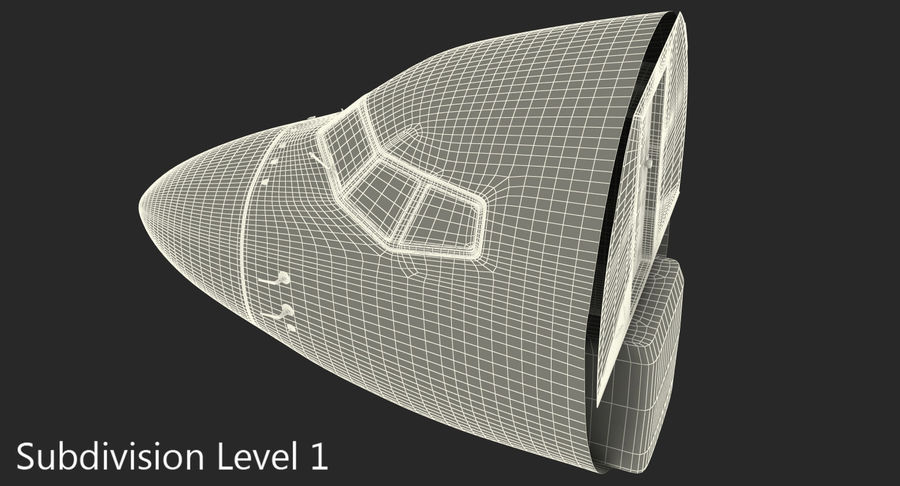 Cockpit d'avion de passagers royalty-free 3d model - Preview no. 12