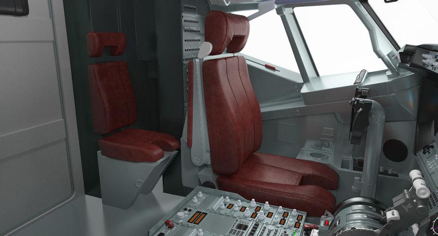 Cockpit d'avion de passagers royalty-free 3d model - Preview no. 9