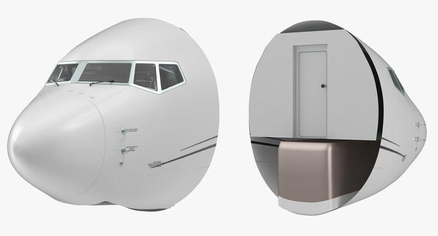 Cockpit d'avion de passagers royalty-free 3d model - Preview no. 3