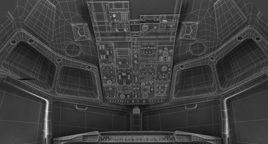 Cockpit d'avion de passagers royalty-free 3d model - Preview no. 20
